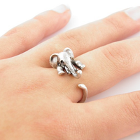 Baby Elephant Adjustable Ring