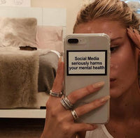 """Social Media seriously harms your mental health"" Phone Case"