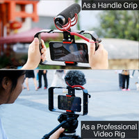 Professional U-Rig Video Stabilizer Set + Microphone + LED Light + Remote