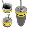 Twist Mug™ + Metallic Straw | Coverless & 100% Sealing