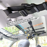 Vehicle Rod Carrier Belt Strap With Tie Suspenders