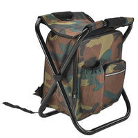 Backpack Cooler With Folding Seat