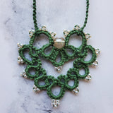 Leaf Green with Topaz Lace Heart