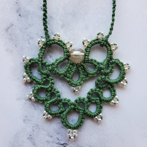 Leaf Green Lace Heart
