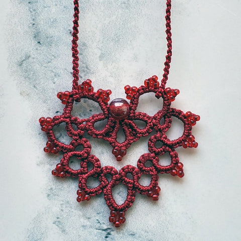 Victorian Red Lace Heart