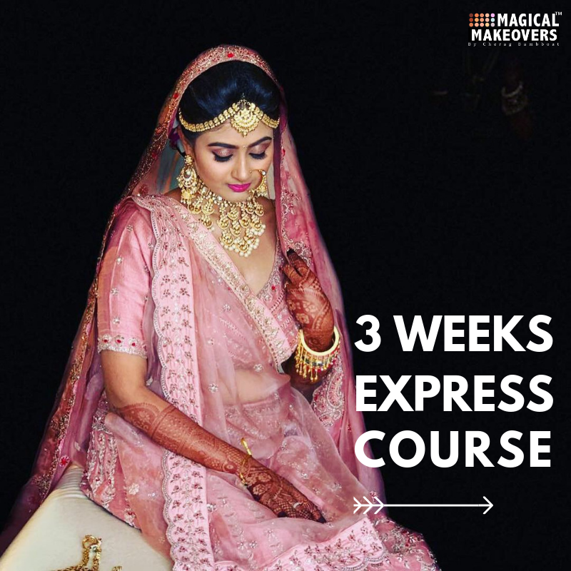 3 Weeks Express Makeup and Hair Course | Booking Amount - 10,000
