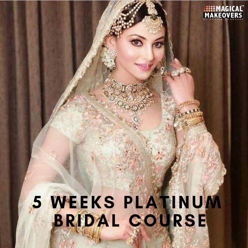 5 Weeks Platinum Bridal Makeup and Hair Course | Booking Amount - 10,000