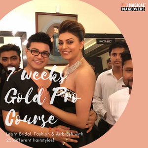 7 Weeks Gold Pro Makeup & Hair Course | Booking Amount - 10,000