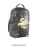 Sprayground Leather Army Lips Backpack Black