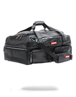 Sprayground Leather Iridescent Sneaker Duffle Bag Black