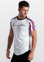 Forever Faithless Maverick Raglan Stripe T-Shirt Wine