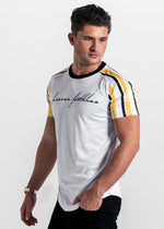 Forever Faithless Maverick Raglan Stripe T-Shirt Yellow