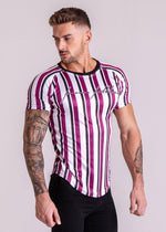 Forever Faithless Maverick Stripe T-Shirt Wine