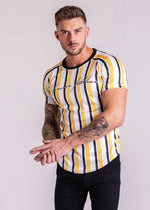 Forever Faithless Maverick Stripe T-Shirt Yellow