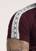 Forever Faithless Piping T-Shirt Burgundy