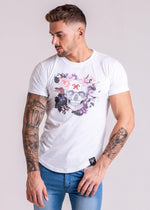Forever Faithless Rosemary Skull T-Shirt White