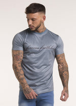 Forever Faithless Script T-Shirt Metallic Blue