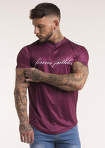 Forever Faithless Script T-Shirt Wine