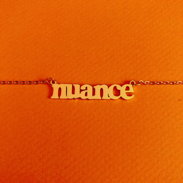 """Nuance"" 18K Gold plated necklace - Brownie Points"