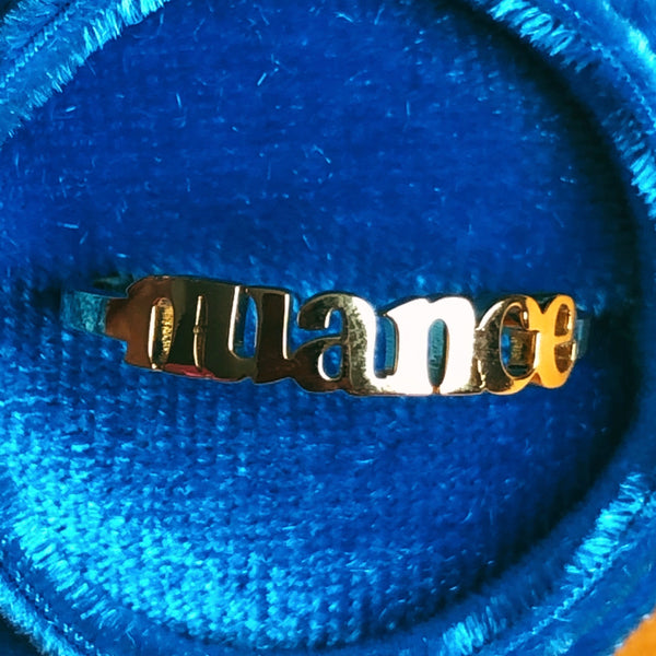 """Nuance"" 18K gold plated ring - Brownie Points"
