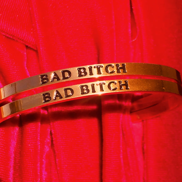 Bad Bitch 14k gold bracelet - Brownie Points