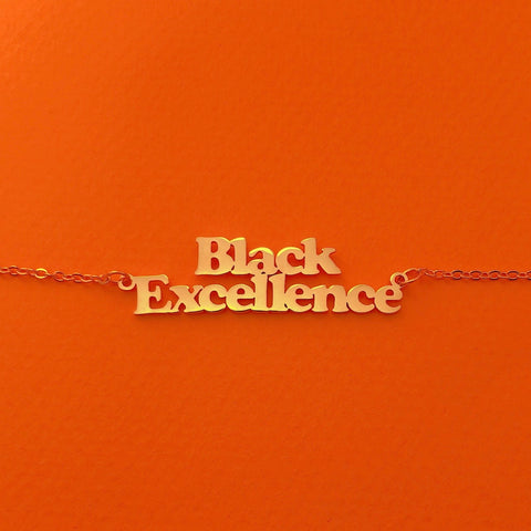 Black Excellence necklace - Brownie Points for You