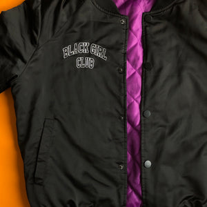 Black Girl Club varsity bomber jacket - Brownie Points for You