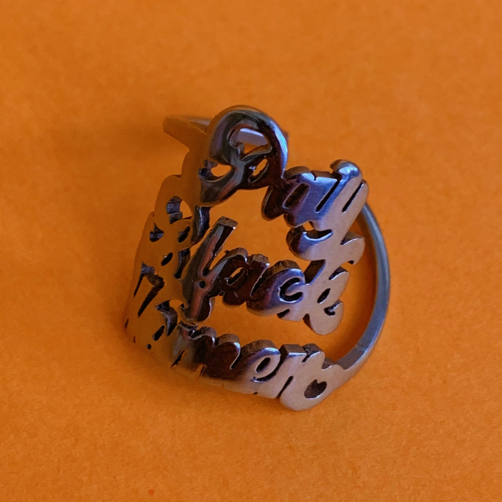 Sample Sale: Pay Black Women ring (SILVER) - Brownie Points for You