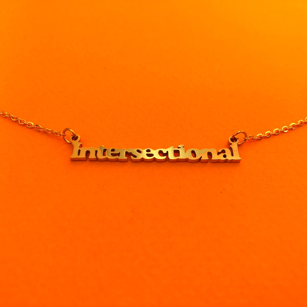 """Intersectional"" Feminism 18K Gold Plated Necklace"