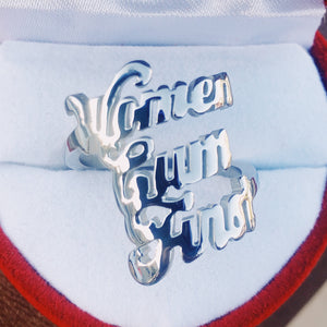 Silver Women Cum First ring