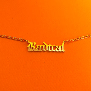 """""""Radical"""" 18K Gold plated choker necklace"""