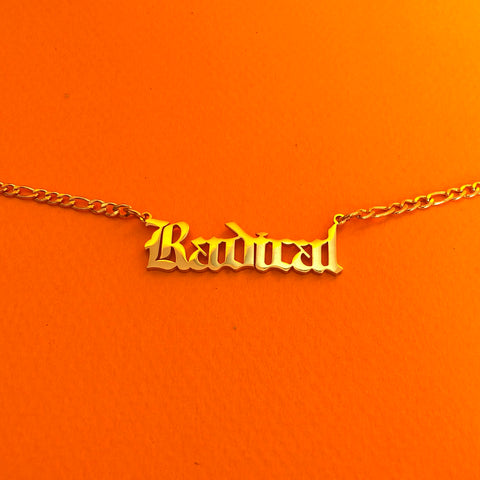 """Radical"" 18K Gold plated choker necklace - Brownie Points"