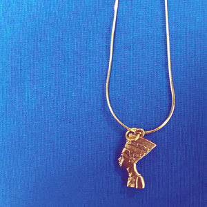 Gold Goddess Nefertiti Necklace