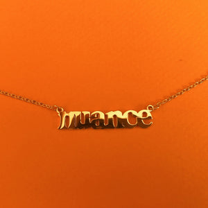 """Nuance"" 18K Gold plated necklace"