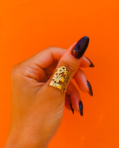 Pay Black Women 18k Gold Plated Ring - Brownie Points for You