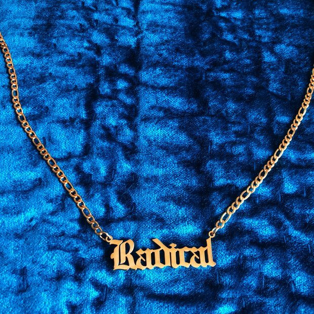 """""""Radical"""" 18K Gold plated choker necklace 1"""