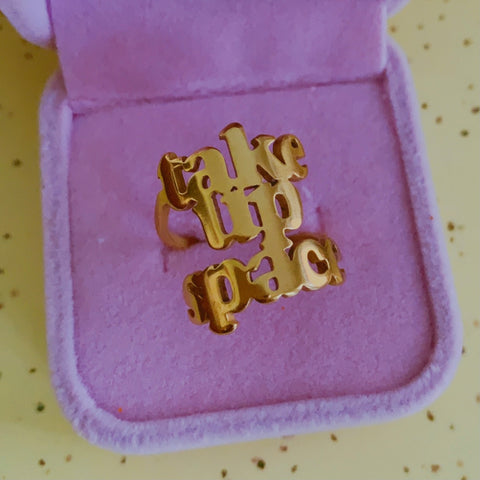 Take Up Space 18k gold plated ring