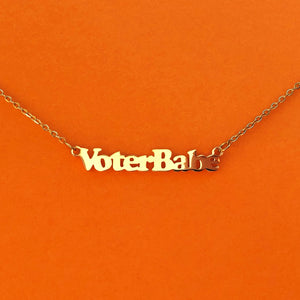 """Voter Babe"" 18k Gold plated necklace"