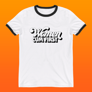 Women Cum First ringer tee - Brownie Points