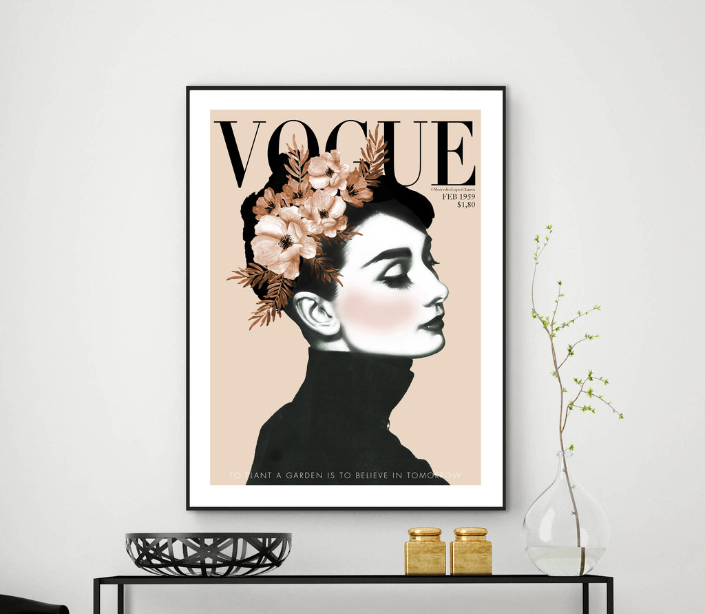 Audrey Hepburn Vogue (cream)