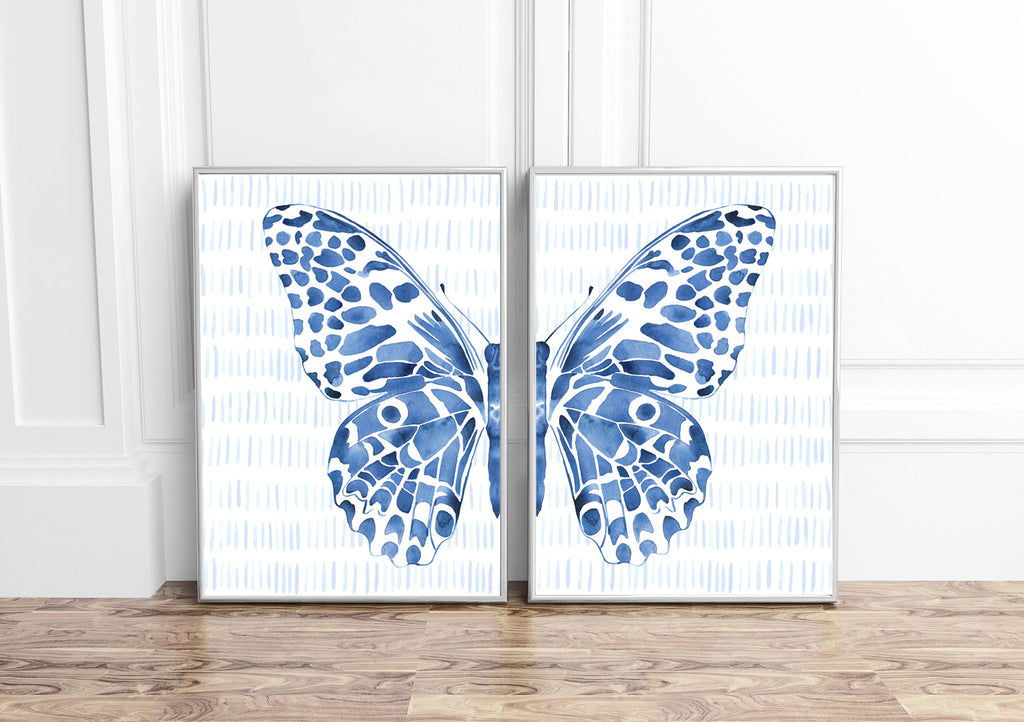 Blue Butterfly Split - Set of Two