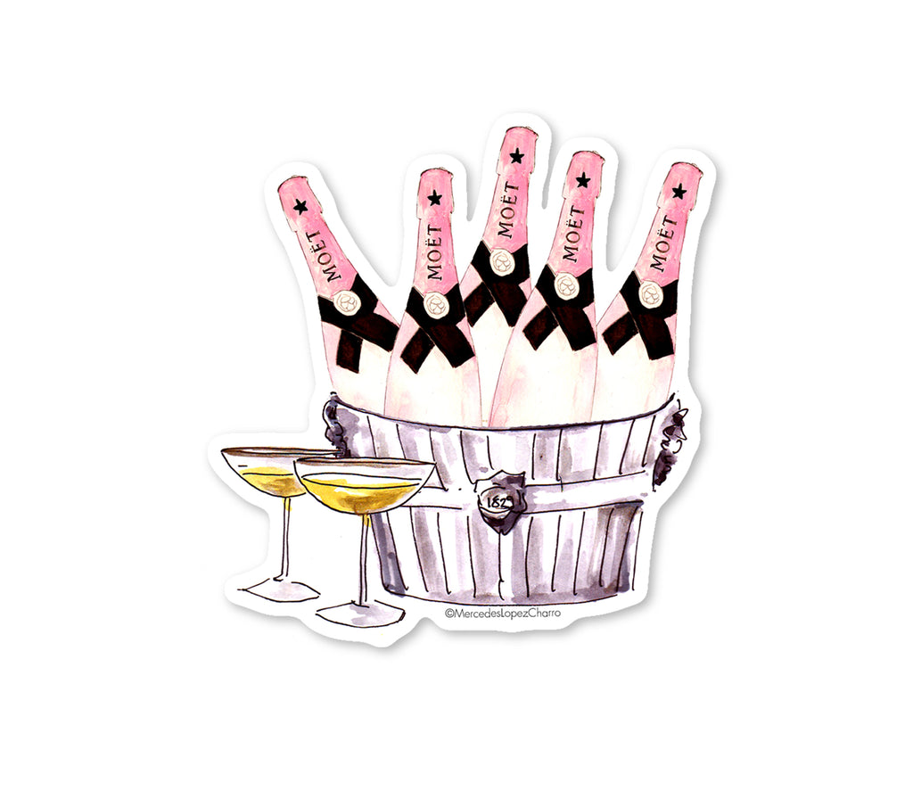 Champagne Bucket Sticker