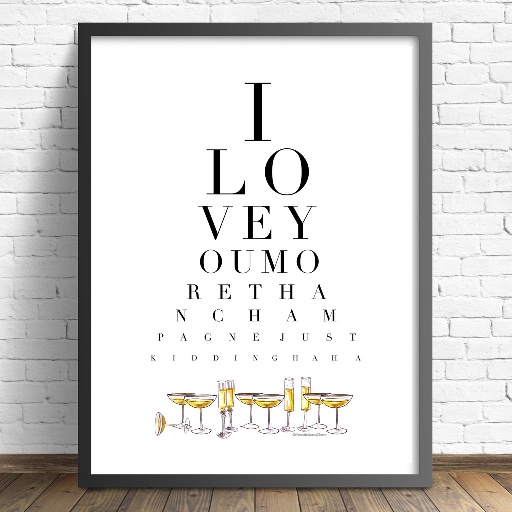 Champagne Eye Test
