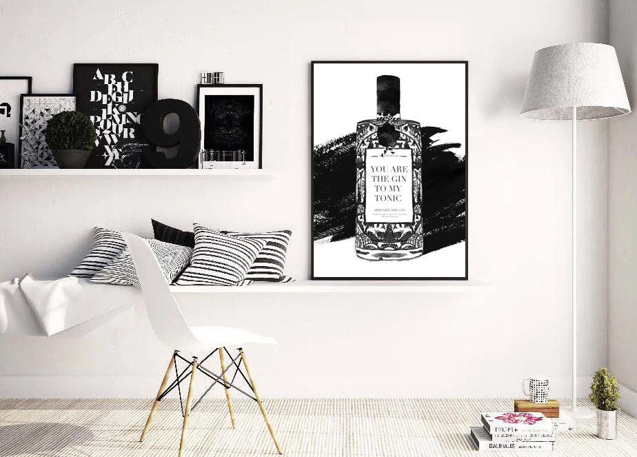 Gin & Tonic Monochrome - Customisable