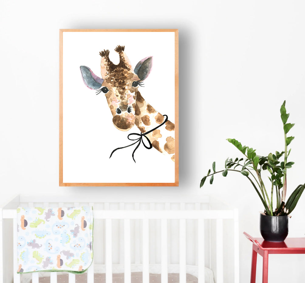 Giraffe with Bow