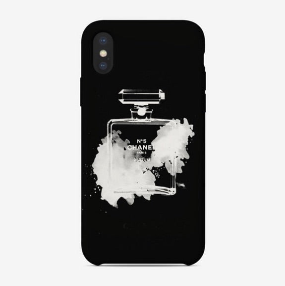 Chanel Bottle black Phone Case
