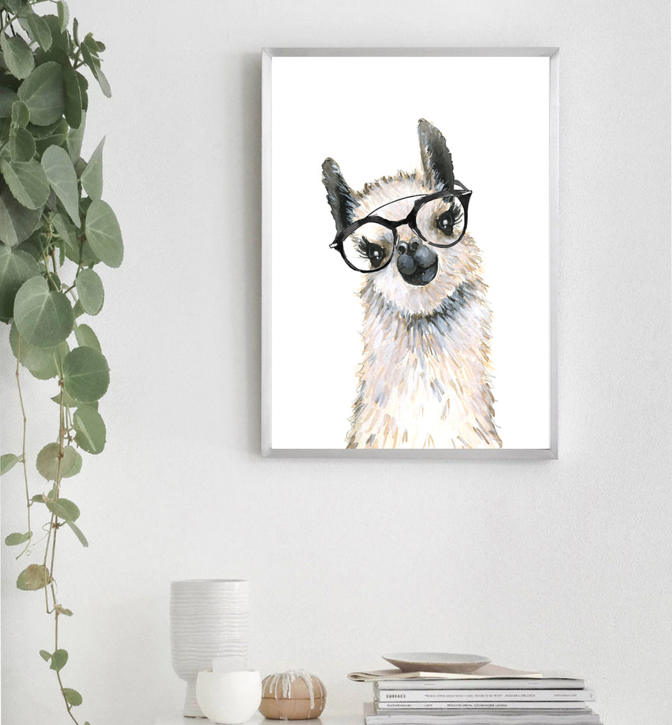 Lovely Llama with Spectacles
