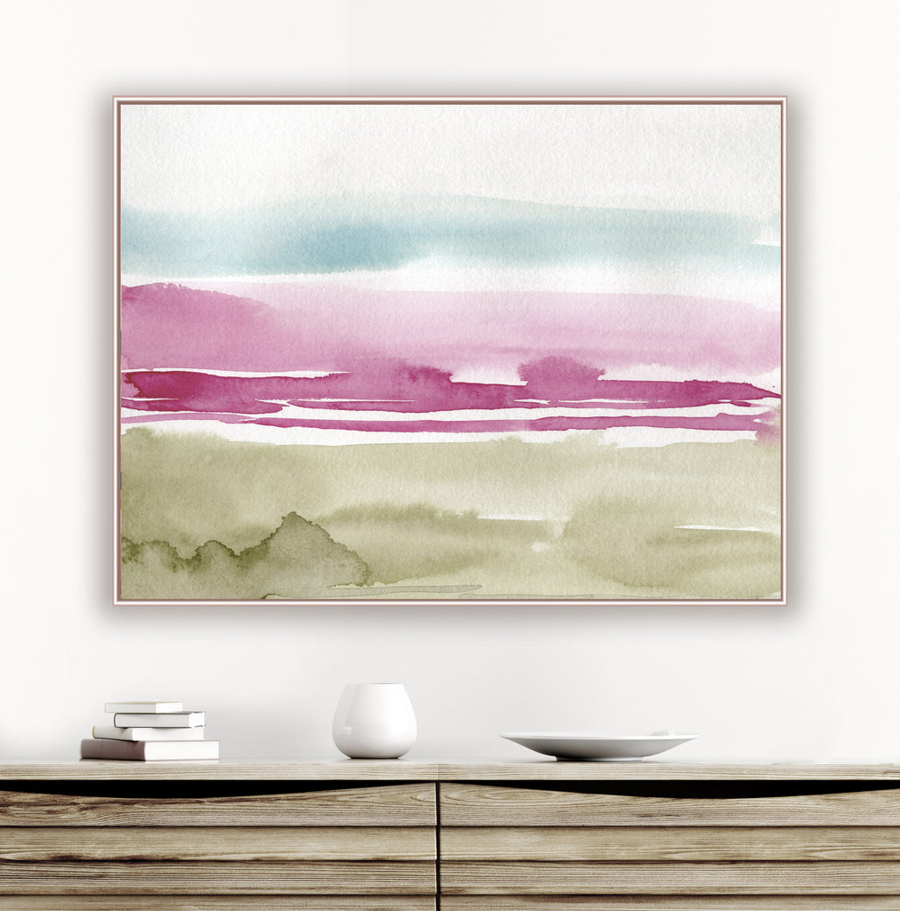 Pink Beach Abstract