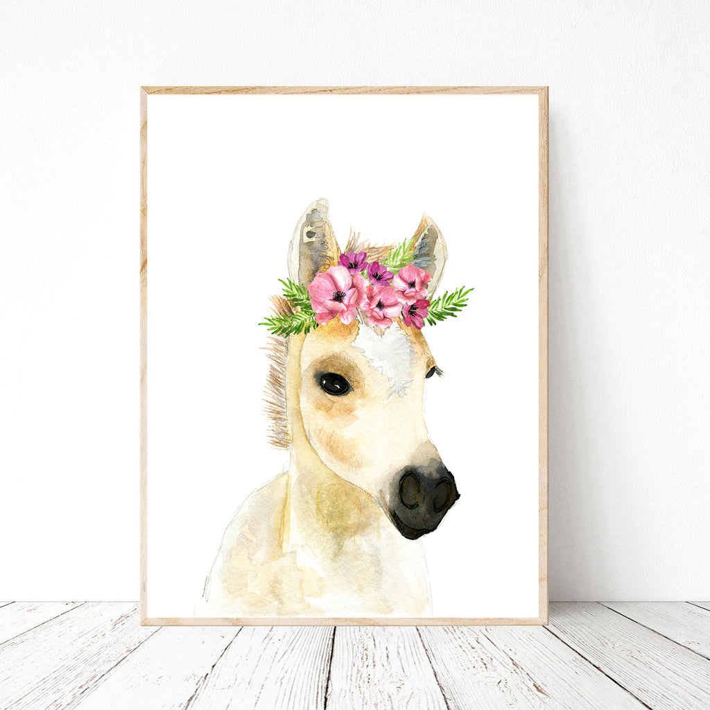 Pony with Flower Crown