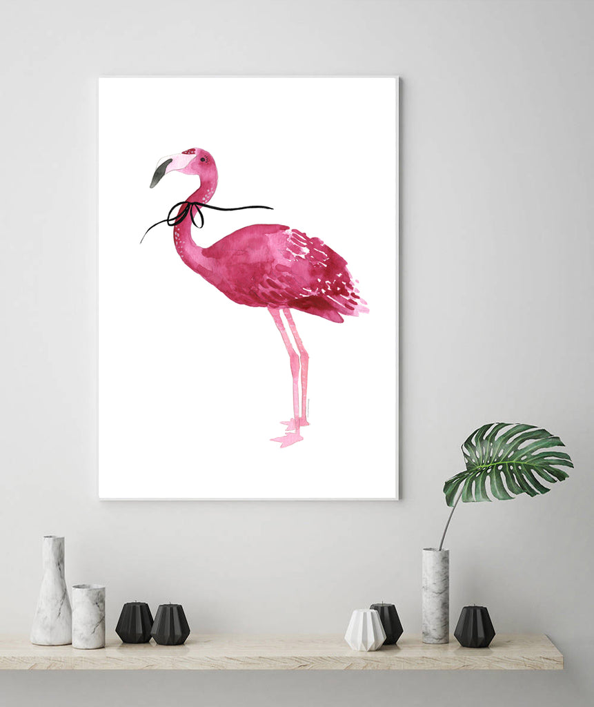 Single Flamingo with bow